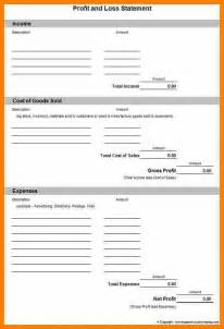 Menu Template Excel 8 Simple Profit And Loss Statement Template Land Scaping Flyers