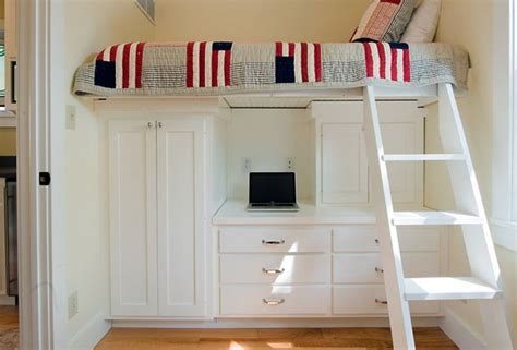 raised bed with desk small bedroom idea raised bed wardrobe and desk