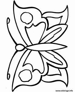 Dessin Facile Papillon : coloriage papillon facile 44 dessin ~ Melissatoandfro.com Idées de Décoration