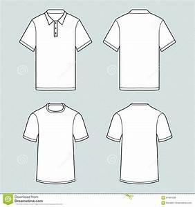 T Shirt Bemalen Schablone : schablone von t shirts und polohemd whith kurzem rmel vektor abbildung illustration von ~ Frokenaadalensverden.com Haus und Dekorationen