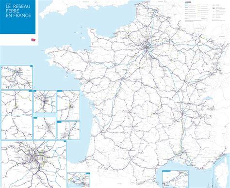 Francijas dzelzceļa stacija map - Francijas valsts dzelzceļa tīkla karte (Rietumeiropā - Eiropa)