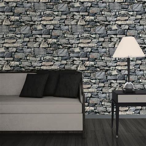 muriva dry stone wall  effect wallpaper