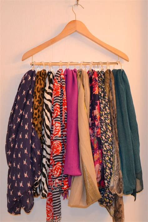scarf storage ideas  pinterest scarf
