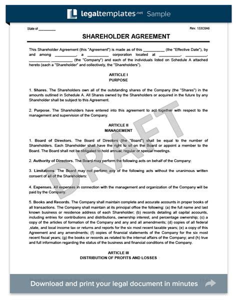 shareholder agreement create   shareholder