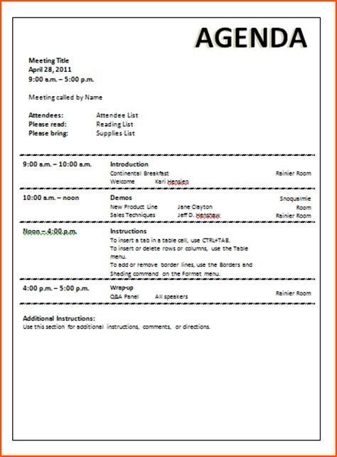 meeting agenda template bookletemplateorg