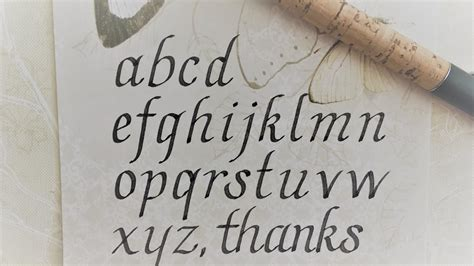 write  calligraphy italic letters  beginners