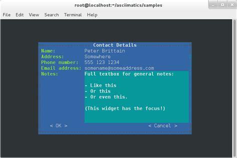 user interfaces asciimatics  documentation