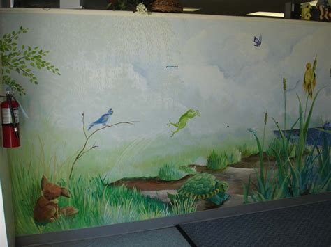 Hand Painted Wall Murals Stencils For Kids Room