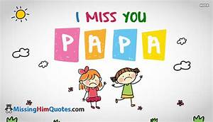 I Miss You Papa Quotes Images