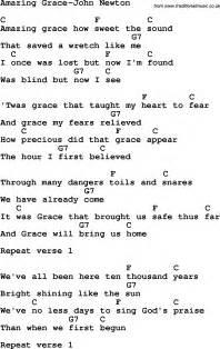 Amazing Grace Lyrics and Chords