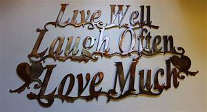 Live Laugh Often Love Much : live well laugh often love much metal wall art accents ~ Markanthonyermac.com Haus und Dekorationen