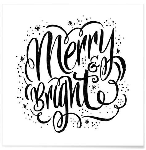Merry Bright Als Premium Poster Door Matthew Taylor Wilson