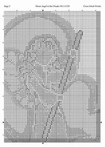 Thread Size Chart Cross Stitch Works Moon Angel In The Clouds 101111339