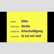 Learn Basic German Phrases In Under 2 Minutes Youtube