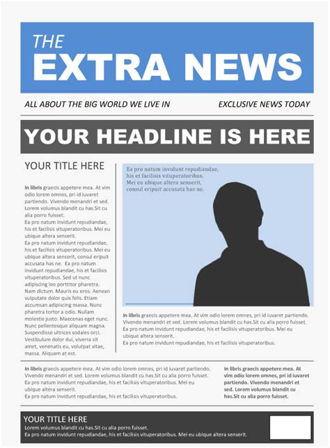 Newspaper Template Microsoft Word
