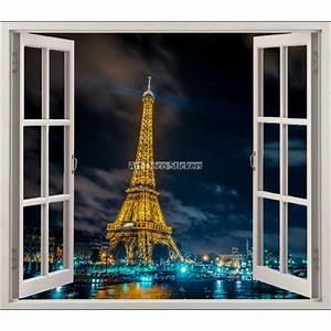Tour Eiffel Deco : sticker fen tre d co tour eiffel r f 5411 stickers muraux deco ~ Teatrodelosmanantiales.com Idées de Décoration