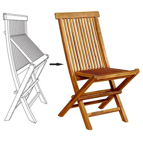 chaises en teck chaises pliante en teck huilé meuble de jardin