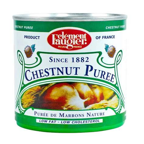 chestnut puree chestnut puree unsweetened all natural by clement faugier from france buy fruit and nuts