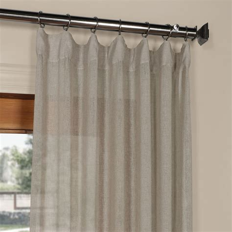 120 inch sheer curtain panels grey solid faux linen 50 x 120 inch sheer curtain