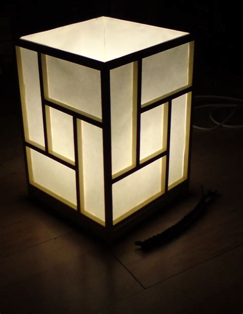 diy building  japanese shoji style ambient lamp