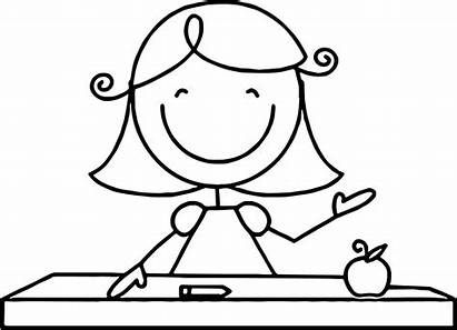 Teacher Coloring Pages English Printable Wecoloringpage Children