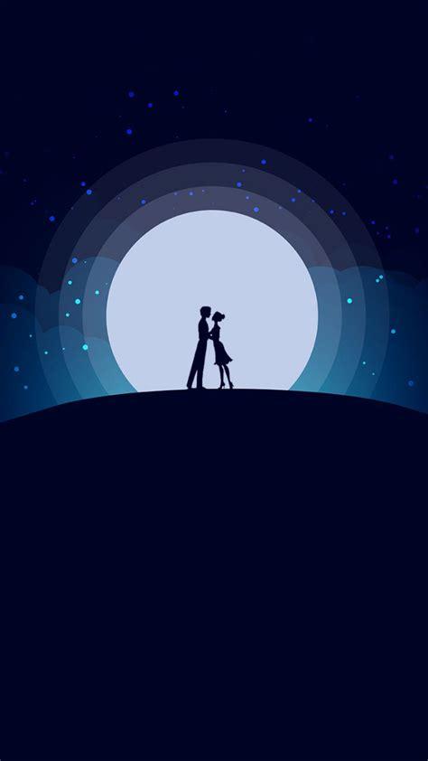 couple love moon night romantic mood