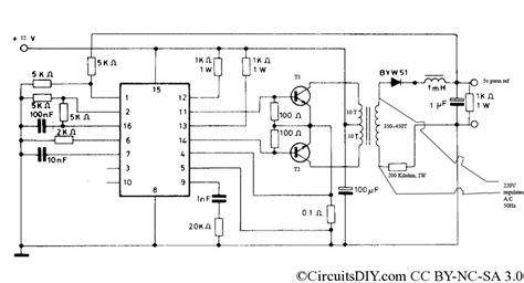 pwm inverter circuit 500 watt low cost circuits diy