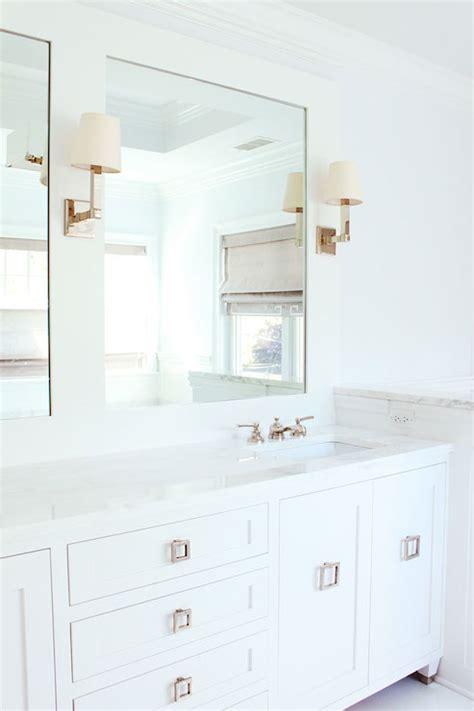 square ring pulls transitional bathroom laura tutun