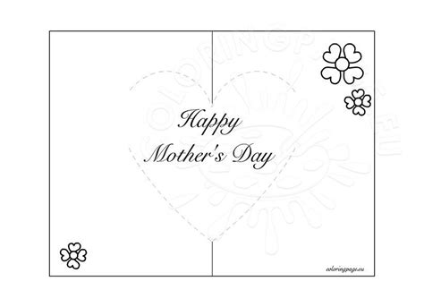 mothers day pop  card coloring page