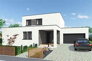 maisons a toit plat With marvelous maison toit plat en l 4 maison neuve contemporaine toit plat