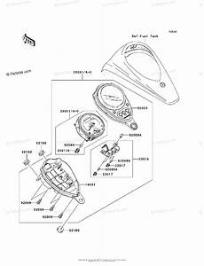 Kawasaki Motorcycle 2008 Oem Parts Diagram For Meter S