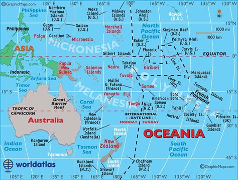 large map  australia  oceania easy  read  printable