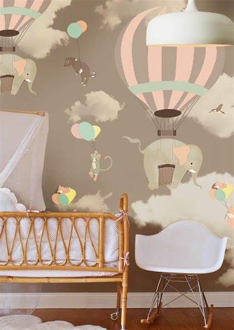 colored wallpapers for children s room with motifs