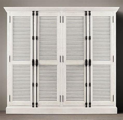 Louvre Door Cupboards by Diy Shutter Door Wardrobe India Pied 224 Terre Idea