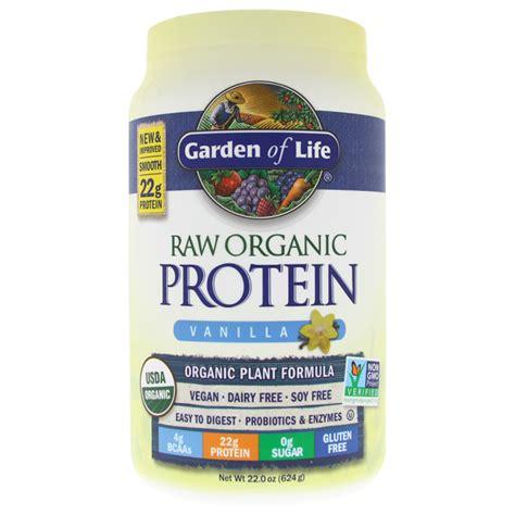 garden of protein powder garden of organic protein vanilla 22 oz powder