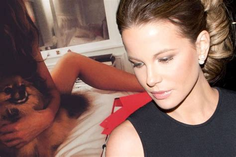 kate actress on instagram kate beckinsale poses naked in bed with pet puppy but