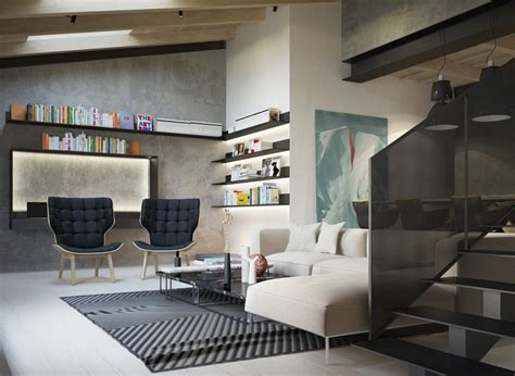 Concrete Finish Studio Apartments: Ideas & Inspiration : Exposed Concrete Walls Ideas & Inspiration
