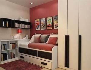 Aménagement Petite Chambre Ado : design interieur chambre ado petit espace idees ~ Teatrodelosmanantiales.com Idées de Décoration