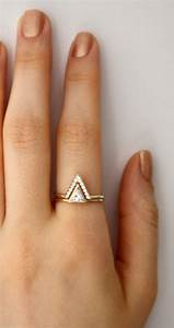triangle ring with pave cz v ring triangle swarovski With triangle wedding ring