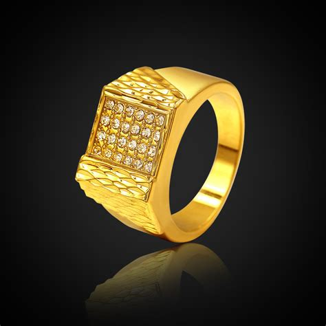 aliexpress buy real brand italina rings for men hot aliexpress buy high end brand luxury 18k real gold