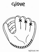 Glove Baseball Coloring Clipart Mit Printable Sketch Mitt Drawing Kid Template Clip Easy Cliparts Pencil Transparent Bible Getdrawings Obj Nfl sketch template