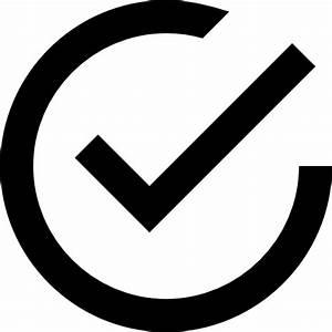Tick inside circle - Free interface icons