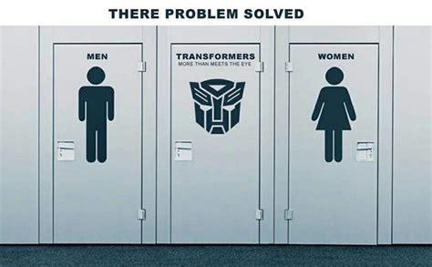 Transgender Bathroom Memes - genius transgender bathroom transformer funny toptags joke top tags epic lol crazy