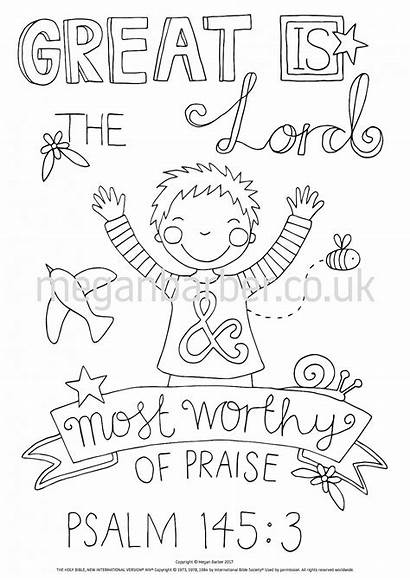 Psalm Coloring 145 Sheet Colouring Psalms Sheets