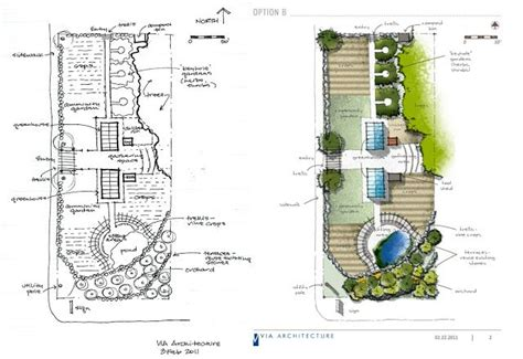 create  attractive site plan  hand drawing