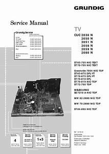 Grundig Cuc 2030n 2050n 2051n 2059n 2080n  Service Manual