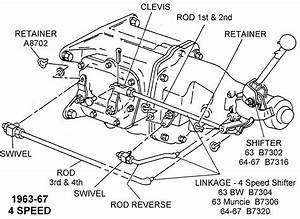1963-67 4-speed - Diagram View