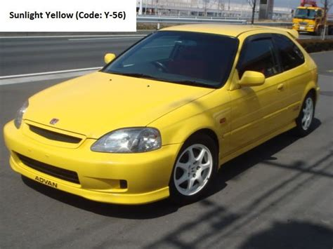 type r honda civic ek9 sunlight yellow type r honda