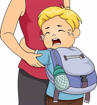 Anxiety Separation Boy Clipart Disorder Crying Children