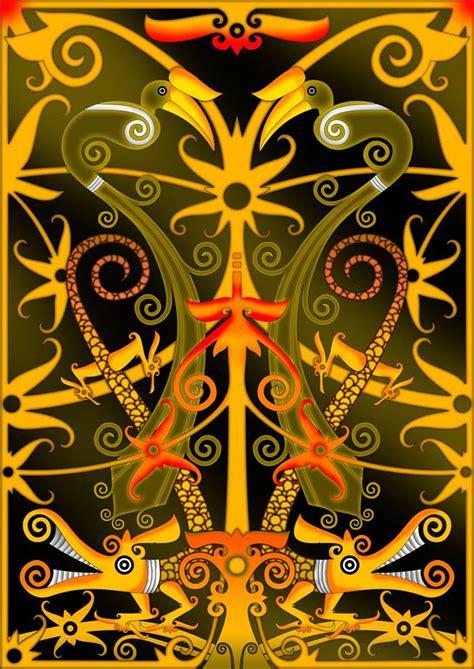 motif batik dayak kalimantan timur batik indonesia